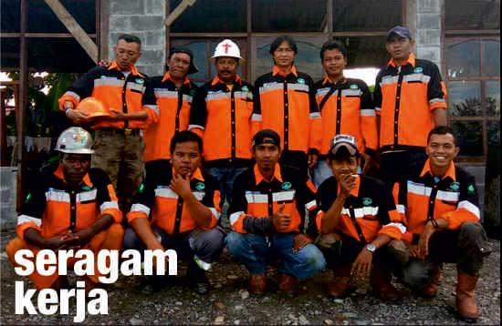 seragam kerja orange