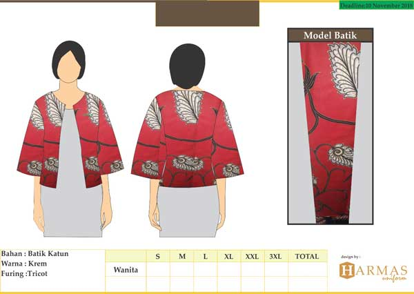 seragam kerja batik